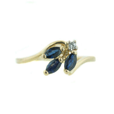 gems and jewels for less, sapphire ring, women's ring, woman ring, september birthstone, fine jewelry, women's sapphire ring, 14k gold, yellow gold, nature, zales, kay, gift for mom, ring, leaf style ring, real gold, gemstone jewelry, jewellery