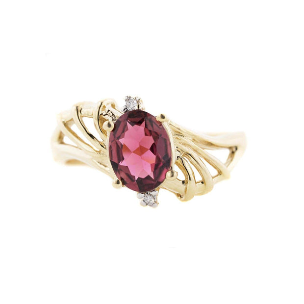 pink tourmaline ring, pink tourmaline and diamond ring, gems and jewels, jewels for me