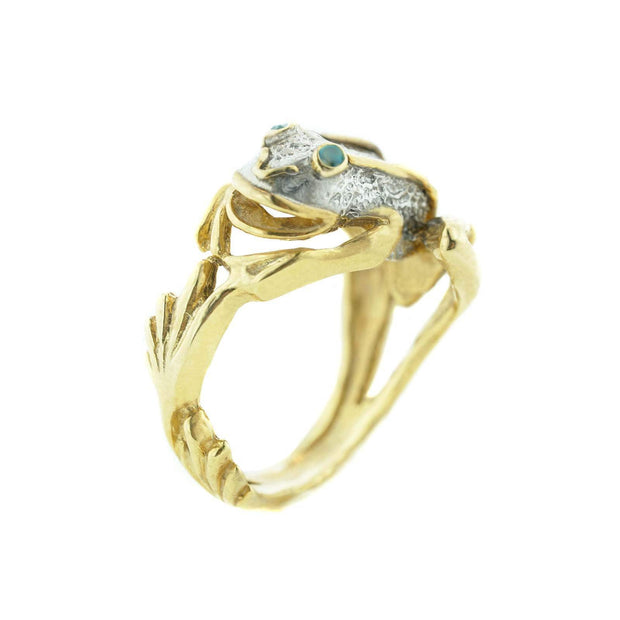 frog ring, sterling silver, emerald ring, pepe, may birthstone, gems and jewels, animal jewelry, unique rings, silver rings