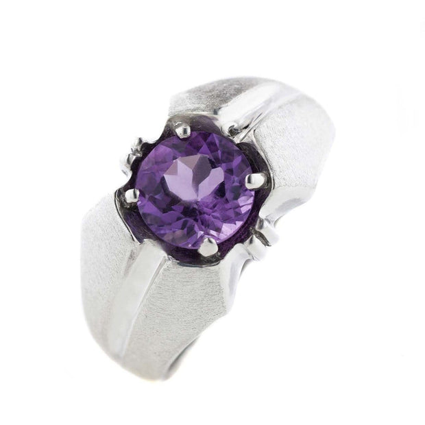 amethyst ring, men's amethyst ring, men's jewelry, fathers day, february birthstone, silver ring, platinum, men's fashion, fashion jewelry, men's silver ring, best price, gems and jewels for less, jewelsforless