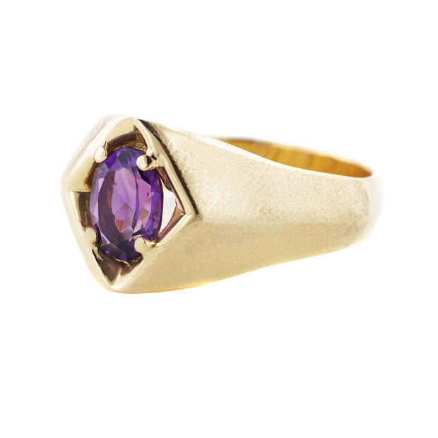 february birthstone, amethyst ring, men's amethyst ring, silver ring, man's ring, ring for man, amethyst ring for man, best price, wholesale jewelry, minimalist jewelry, gold over silver jewelry, silver jewelry, silver ring, fine jewelry, gems and jewels for less, purple, gemstone jewelry for men