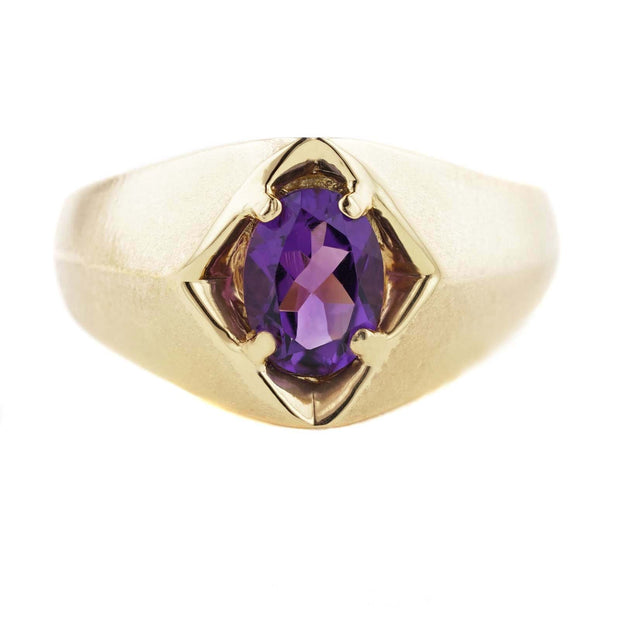 rings, metal, stone, perfect gift, beautiful rings, hand crafted, february birthstone, free shipping, mens amethyst ring, mens, minimalist jewelry, gold over silver, silver, gems and jewels for less, purple stone, gemstone