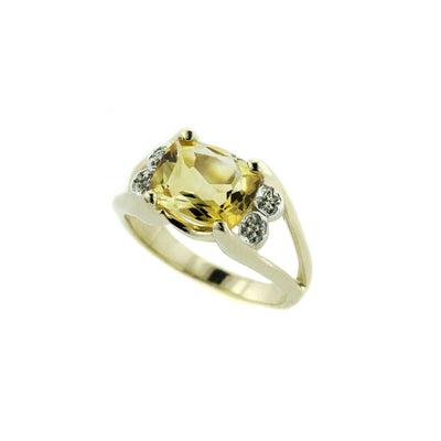 gjfl, gems and jewels for less, citrine, genuine citrine, november birthstone, golden stone, natural citrine, women's ring, women's citrine ring, fine jewelry, 14k gold citrine ring, citrine stone