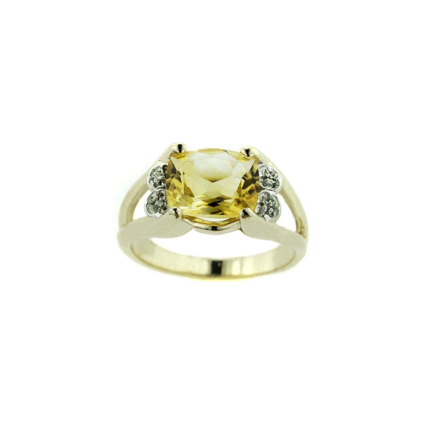 gjfl, gems and jewels for less, citrine, genuine citrine, november birthstone, golden stone, natural citrine, women's ring, women's citrine ring, fine jewelry, 14k gold citrine ring