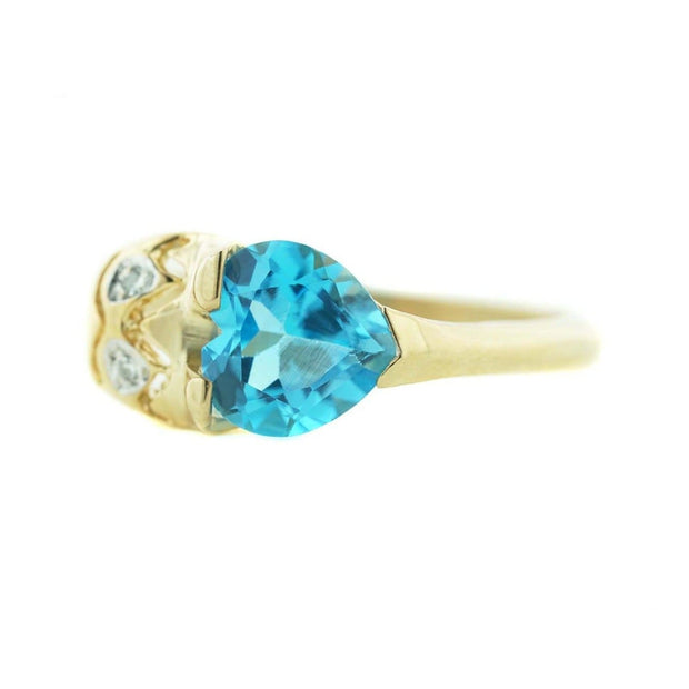 blue topaz, love, heart of gold, heart, alternative engagement ring, 14k gold ring, women's ring, ocean of love, quality gold, the gold gods, heavy stone rings, december birthstone, mothers day, gems and jewels for less