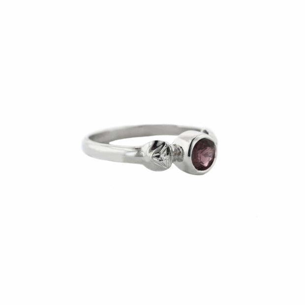 Bezel Set Pink Tourmaline Ring - 925 Siliver