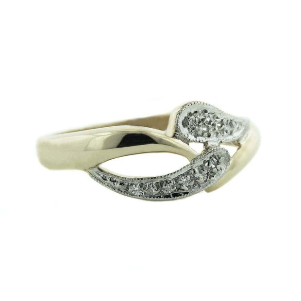 band, diamond band, white sapphire band, women's gold band, gjfl, women's diamond band, movement, wedding band, diamond wedding band, women's ring, white sapphire ring, gems and jewels for less, engagement band, gold band, jewelsforless, september birthstone