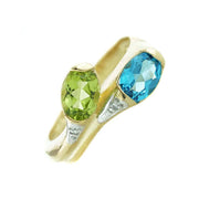 blue gemstones, blue stone, blue jewels, peridot, august birthstone, blue topaz, december birthstone, peridot ring, blue topaz ring, yellow gold, green stone, mothers day, gems and jewels for less, jewelsforless