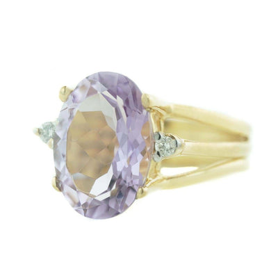 amethyst, 6 carats, heavy stone ring, amethyst ring, women's amethyst ring, women's ring, woman ring, ring, fine jewelry, morganite, large stone ring, yellow gold, february birthstone, jewelry, jewellery, statment piece, alternative wedding ring, best price, wholesale jewelry, discount jewelry, rings on sale, mothers day, gems and jewels for less, easter, gold ring