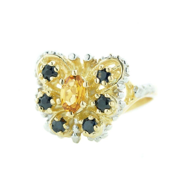 gems and jewels for less, mothers day, yellow gold, white gold, butterfly ring, citrine, blue sapphire ring, november birthstone, september birthstone, nature, genuine stone, gift for mom, best price, heavy stone ring, life, 14k woman ring, what does a ring symbolize,  butterfly pictures, butterfly kisses, butterfly ring, yellow stone, citrine ring, bllue jewels, blue sapphire ring