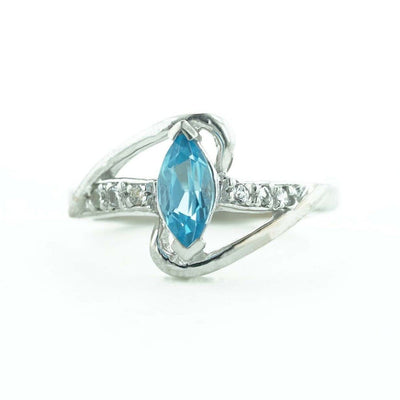 white gold, women's ring, mothers day, gems and jewels for less, jewelsforless, december birthstone, blue topaz, gemstone rings, diamond ring