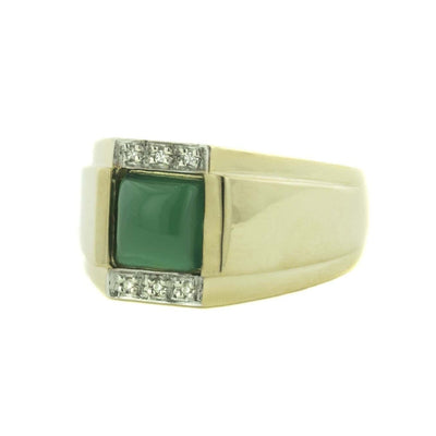 jade, mystical birthstone march, silver, mens ring, gold over silver, diamond, man-made diamond, natural jade, fathers day, gems and jewels for less, jewelsforless, green jade, mens fashion rings, mens rings, casual rings, metal rings