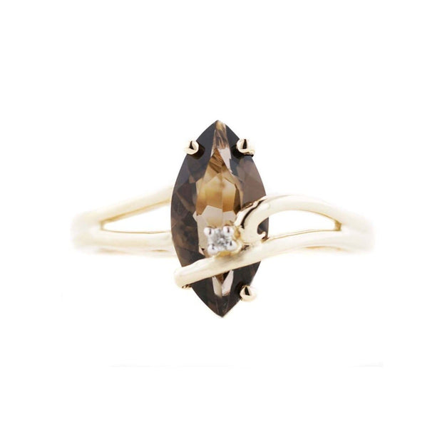 smoky quartz ring, brown gold ring, sale on rings effy rings on sale, topaz ring, smokey topaz diamond ring, gems and jewels