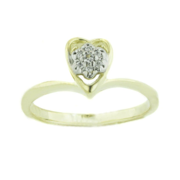princess ring, cluster ring, heart ring, cubic zirconia ring, gold heart ring, gems and jewels for less, gjfl