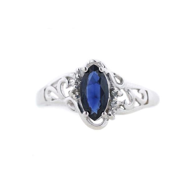 blue sapphire ring, sapphire ring, september birthstone ring, blue ring, blue jewels, jewels for me, gems and jewels, jewels and gems