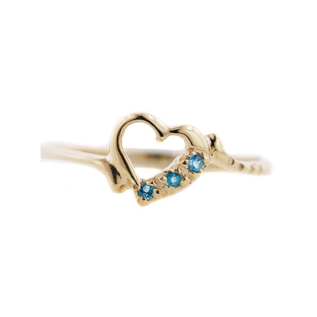 blue topaz heart ring, blue ring, heart blue, blue diamond heart ring, heart shaped blue topaz ring, blue jewels, gems and jewels