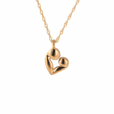 pink gold, rose gold, mother and child necklace, mother and child pendant, rose gold pendant, rose gold charm, rose gold necklace, mother's day, mom, love, gems and jewels for less, jewlesforless, necklace, 14k rose gold