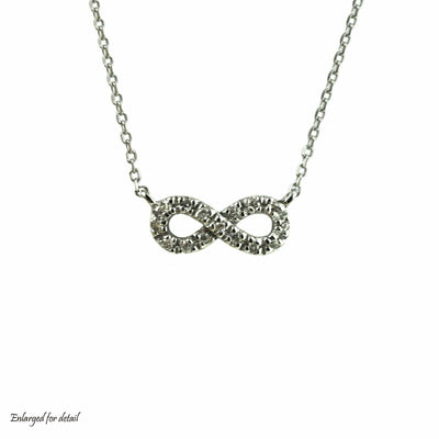 infinity symbol, infinity, necklace, pendant, infinity necklace, diamond necklace, diamond infinity necklace, white gold necklace, diamond white gold necklace, mothers day, gjfl, gems and jewels for less, jewelsforless