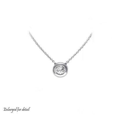 diamond, april birthstone, necklace, pendant, diamond necklace, bezel set diamond necklace, mothers day, gift, fine jewelry, best price necklace, best price, wholesale jewelry