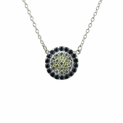 silver, necklace, pendant, silver necklace, disc, diamond, cubics, mothers day, gems and jewels for less, gjfl, best price, fine jewelry