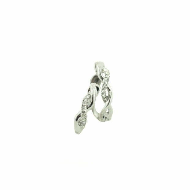 diamond huggie earrings white gold, diamond earrings, twist earring, clasp, comfort wear, fine jewelry, best price, accessories, gold