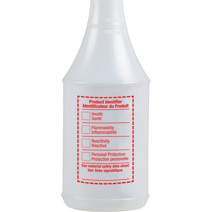 24oz Round Spray Bottle with WHMIS Label
