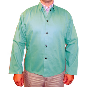 powerweld-fr-welding-jacket-9oz-fr-cotton-green