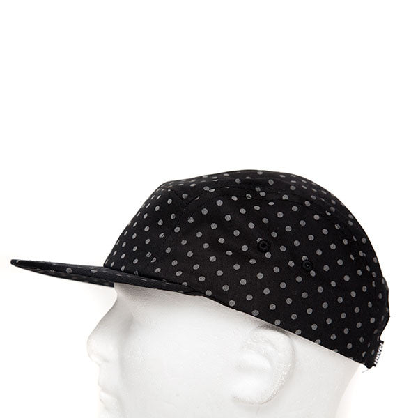 MASH 5-Panel Reflective Dots Black Cotton Hat