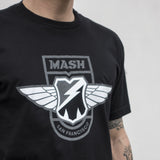 MASH WINGS T-SHIRT BLACK REFLECT