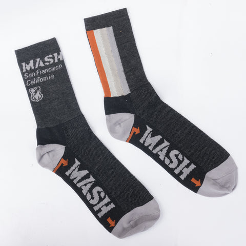 MASH Multi-Stripe Wool High Socks