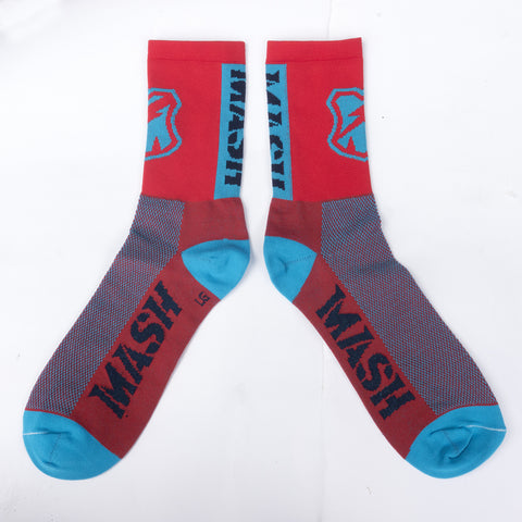 MASH Shop Red/Blue High Socks