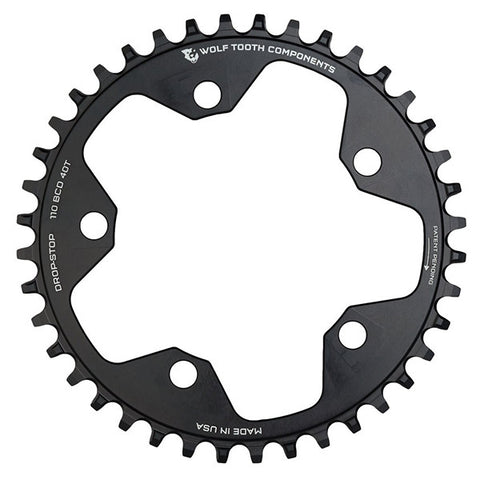 Wolf Tooth Components Drop-Stop Chainring  110BCD Black