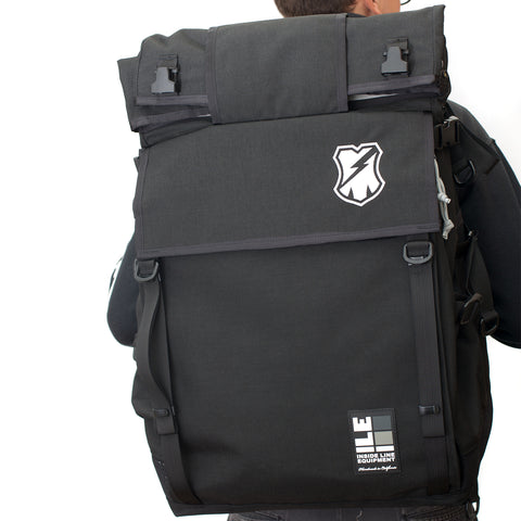ILE X MASH XL Roll Top Backpack Black