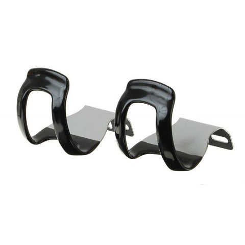 MKS Steel Quarter Clips W/ Rubber Coating - Black
