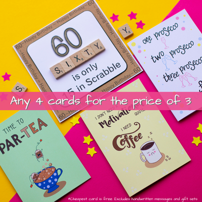 4 cards for the price of 3