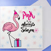 Pink is Always in Season, Festive Flamingo Christmas Card - fizzi~jayne