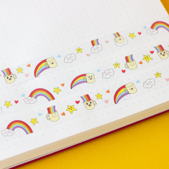 Washi tape colourful, rainbows