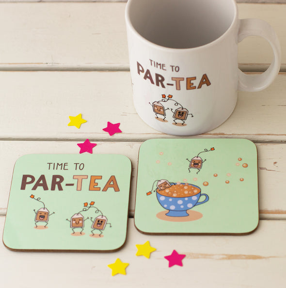 Par-TEA Lovers Mug and Two Coaster Gift Set