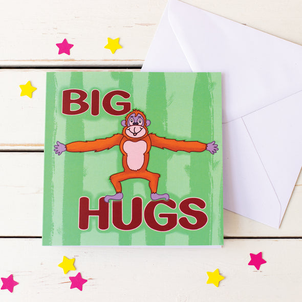 Send a Big Hug. Fun Illustrated Greeting Card