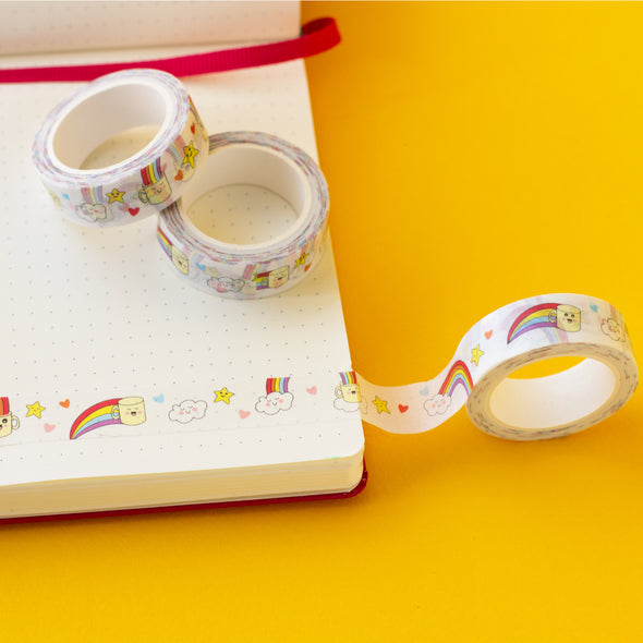 Decorative masking tape for craft and scrapbooking and planners
