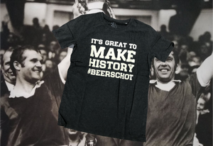 """It's great to make history #Beerschot"" T-shirt(s)"