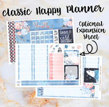 Load image into Gallery viewer, Any Month Monthly - WINTER BLOOMS monthly view spread - ECLP, Happy Planner Classic Big Mini, Recollection - pick a month
