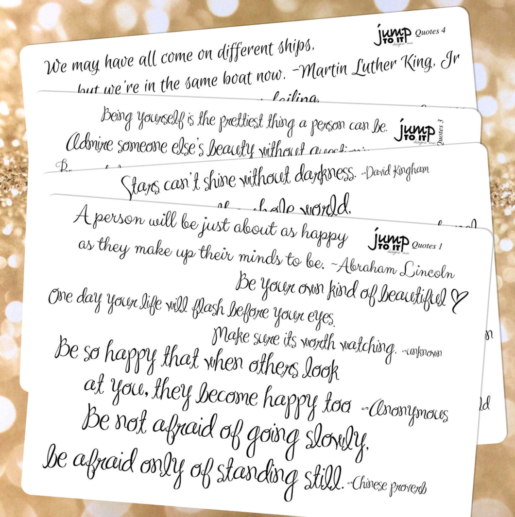 Quotes inspiration stickers | for Erin Condren Happy Planner Sticker