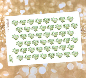 Payday stickers - for Erin Condren Happy Planner Sticker - work job workday money savings