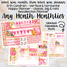 Load image into Gallery viewer, Any Month Monthly -PARTY birthday monthly view spread - ECLP, Happy Planner Classic Big Mini, Recollection - pick a month