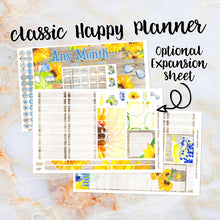 Load image into Gallery viewer, Any Month Monthly -SUNFLOWERS monthly view spread - ECLP, Happy Planner Classic Big Mini, Recollection - pick a month summer