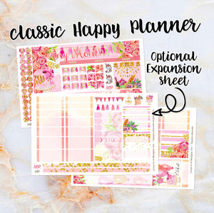 Any Month Monthly -PARTY birthday monthly view spread - ECLP, Happy Planner Classic Big Mini, Recollection - pick a month