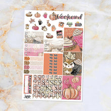 Load image into Gallery viewer, Foxy Fall sampler stickers - for Happy Planner, Erin Condren Vertical and Horizontal Planners - fall leaves fox autumn