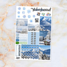Load image into Gallery viewer, Winter Alps sampler stickers - for Happy Planner, Erin Condren Vertical and Horizontal Planners