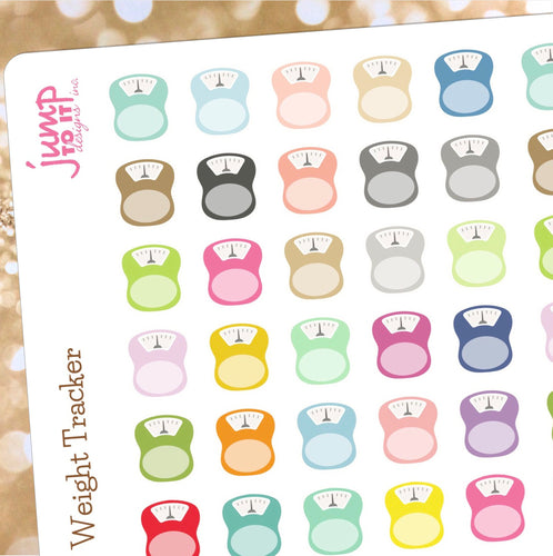 Scale Planner stickers - Erin Condren Happy Planner Recollection  - diet weight fitness workout
